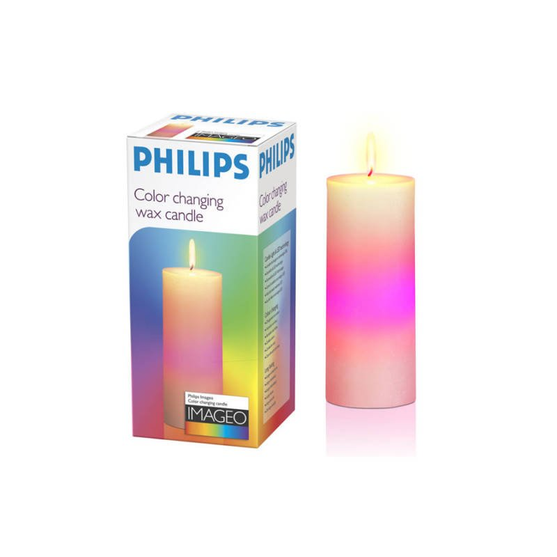 Color changing wax candle